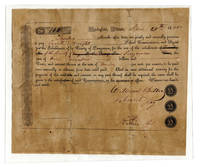 Unique Signed Abraham Lincoln Signed 1840 Financial Document involving the Schools of Sangamon County and with many fabulous associations!