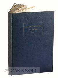 Newark: University of Delaware, 1938. cloth. 8vo. cloth. 116 pages. B1-4670. Twelfth series. With a ...
