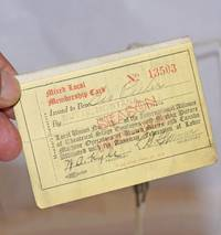 image of Mixed local membership card [for first half of 1924]