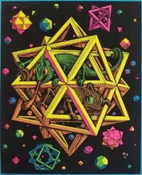 """""""Stars"""" silkscreened after engraving of M.C. Escher."""