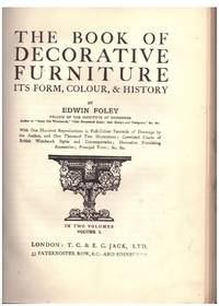 image of THE BOOK OF DECORATIVE FURNITURE, Volume 1 and 2