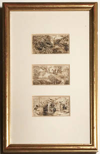 Original Ink Studies created by Thomas Bewick for carving into woodcut engravings, miniature detailed sketches of Birds and Squirrels of the highest calibre,