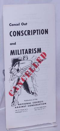 image of Cancel Out Conscription and Militarism
