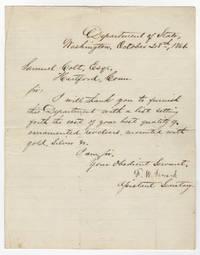 Frederick Seward Asks Samuel Colt for Presentation Pistol Prices