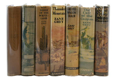 A Collection of Seven First Edition GREY, Zane. Collection of 7 First Editions. New York: Harper & B...