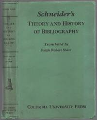 Theory and History of Bibliography