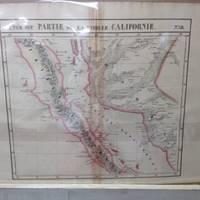 image of Atlas Universel De Geographie, Physique, Politique Et Mineralogique North  America - Map of Baja Peninsula and Western Coast of Mexico (Partie De La  Vielle Californie)