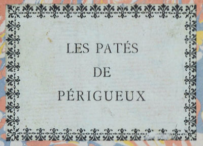 Les patés de Périgueux