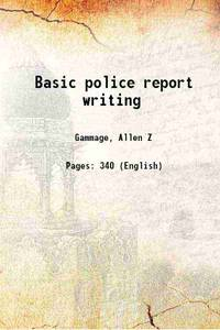 image of Basic police report writing