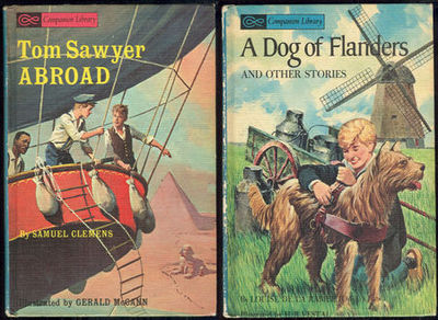 TOM SAWYER ABROAD AND A DOG OF FLANDERS AND OTHER STORIES, Twain, Mark and Louise De La Ramee (Ouida)