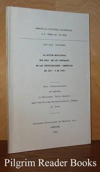 image of La accion rescisoria por dolo en los contratos en las codificaciones  canonicas; de 1917 y de 1983.
