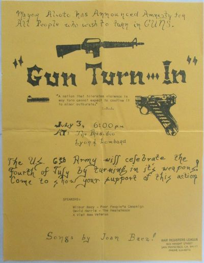 Gun Turn-In. July 3, (1969) Event Flier