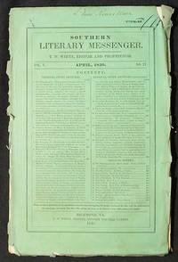 Southern Literary Messenger April 1839 vol. 5, no. 4
