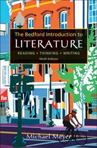 Bedford Introduction to Literature : Reading  Thinking  Writing