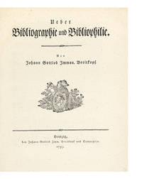 Ueber Bibliographie und Bibliophilie