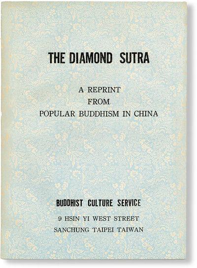 : Buddhist Culture Service, . 12mo (18cm.); publisher's blue decorative double wrappers; ,33pp. Ligh...