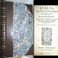 1572 VENICE BIBLE LATIN VULGATE FOLIO LEATHER BIBLIA AD VETUSTISSIMA