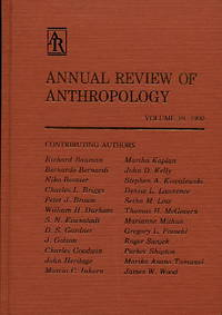 Annual Review of Anthropology, Volume 19, 1990