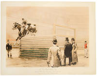 The High Jump, National Horse Show Association, New York, 1892. Transport tying Maud at 6 feet 1 inch