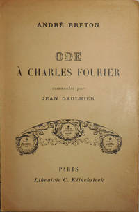 image of Ode A Charles Fourier; commentee par Jean Gaulmier