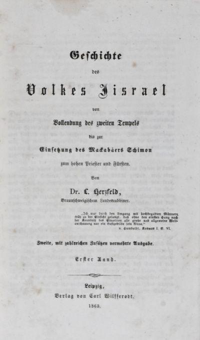 Leipzig: Carl Wilsserodt, 1863. Zweite, mit zahlreichen Zusätzen vermehrte Ausgabe (Vol. I & II sec...