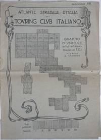 image of Atlante Stradale d'Italia del Touring Club Italiano. Quadro d'Unione dei Fogli dell'Atlante Stradale del T.C.I. alla scala di 1:300000