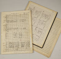 "Symphony No. 3. ""Thirty-Seven Years."" Musical manuscript full score in a copyist"
