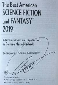 BEST AMERICAN SCIENCE FICTION AND FANTASY 2019 (SIGNED)