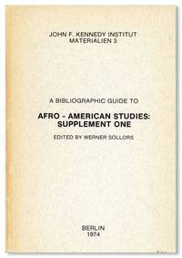 A Bibliographic Guide to Afro-American Studies: Supplement One
