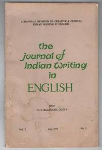 The Journal of Indian Writing in English: Volume 3 Number 2, July 1975
