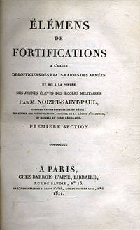 Paris: Barrois l'aine, 1812. First edition. Quarter morocco over boards, raised bands and five compa...