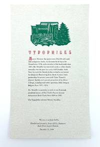 image of [Broadside announcing Marvin Mondlin's membership to the Typophiles]