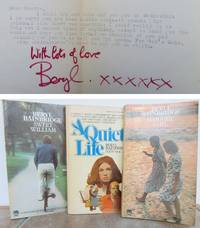 3 PAPERBACK TITLES, 2 INSCRIBED, WITH TYPED LETTER SIGNED: SWEET WILLIAM,  HARRIET SAID, & A...