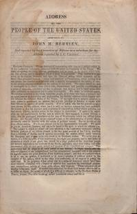 Address to the People of the United States, Prepared by John M. Berrien, And reported by the Committee of fifteen as a substitute for the Address reported by J. C. Calhoun