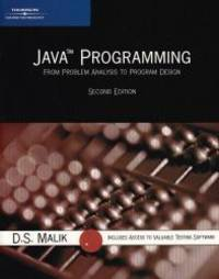 image of Java Programming: From Problem Analysis to Program Design, Second Edition