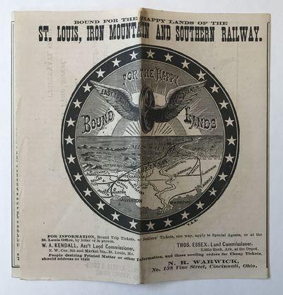 Cincinnati, 1880. Very good.. Folding brochure, eight panels to each side. Minor wear and soiling. C...
