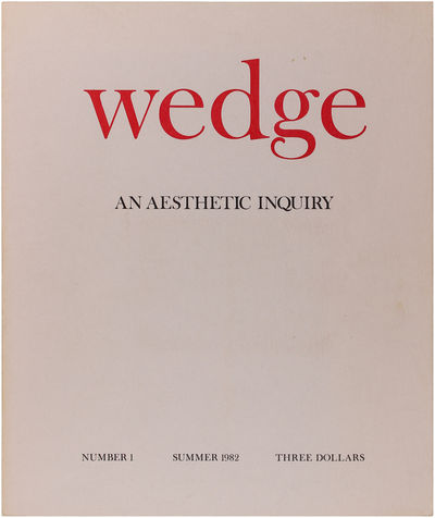 New York: Wedge, 1982. Light soiling to the bottom page edges and a hint of corner wear, else close ...