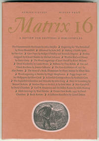 MATRIX [wrapper subtitle: A REVIEW FOR PRINTERS & BIBLIOPHILES]. Whole Number 16