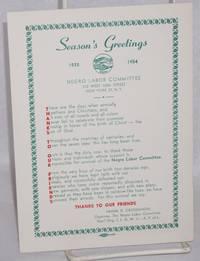 Season\'s greetings,  1935 - 1954