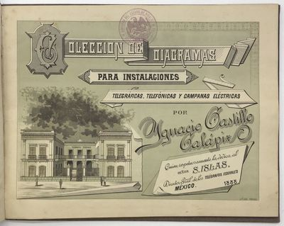 Mexico City, 1888. About very good.. leaves of plates. Oblong small folio. Original embossed cloth b...