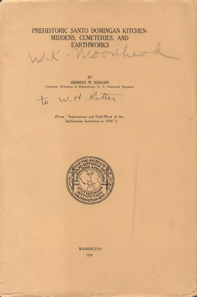 Washington: Smithsonian Institution. Good. 1931. Pamphlet. Tan paperboard covers with black letterin...