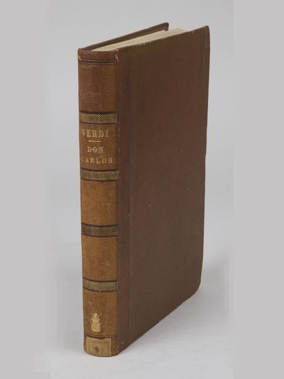 Paris: Léon Escudier , 1867. Large octavo. Light tan morocco-backed pebbled paper boards, spine in ...