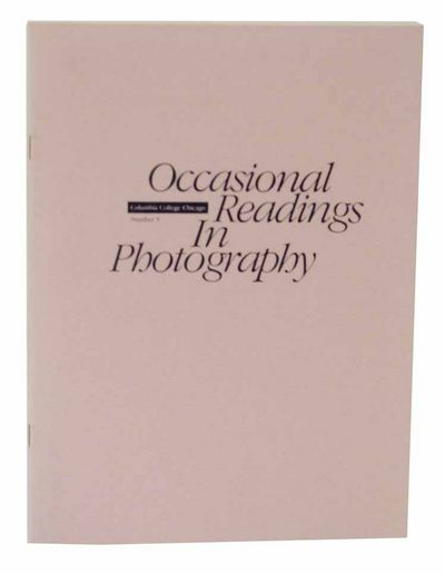 Chicago, IL: Columbia College, 1992. First edition. Softcover. 20 pages. Brief foreword by Lynn Sloa...