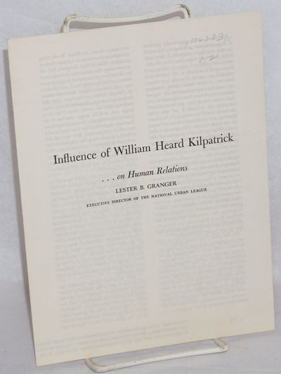 New York: National Urban League, 1952. Pamphlet. 4p., wraps, very good condition. The African Americ...