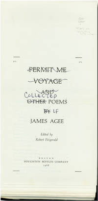 PERMIT ME VOYAGE AND OTHER POEMS [altered to: THE COLLECTED POEMS OF....]