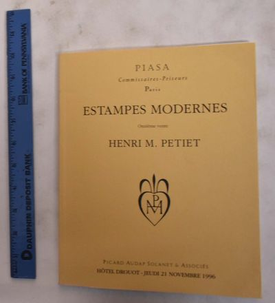 Paris, France: Piasa / Picard Audap Solanet & Associes, 1996. Softcover. VG. creasing to cover corne...