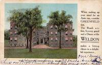 image of A 1905 Vintage Advertising Postcard for the Weldon , Greenfield Mass