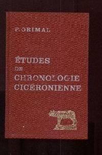 Études de chronologie cicéronienne (années 58 et 57 Av. J.-C.)