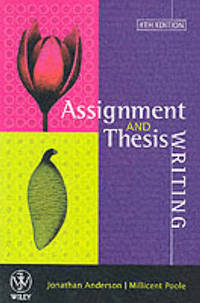 Assignment & Thesis Writing by Jonathan Anderson - Paperback - First Edition - from The Saint Bookstore and Biblio.co.uk