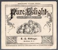 image of 1883 Illustrated Advertising Pamphlet for Pure Delight Sunday School Book